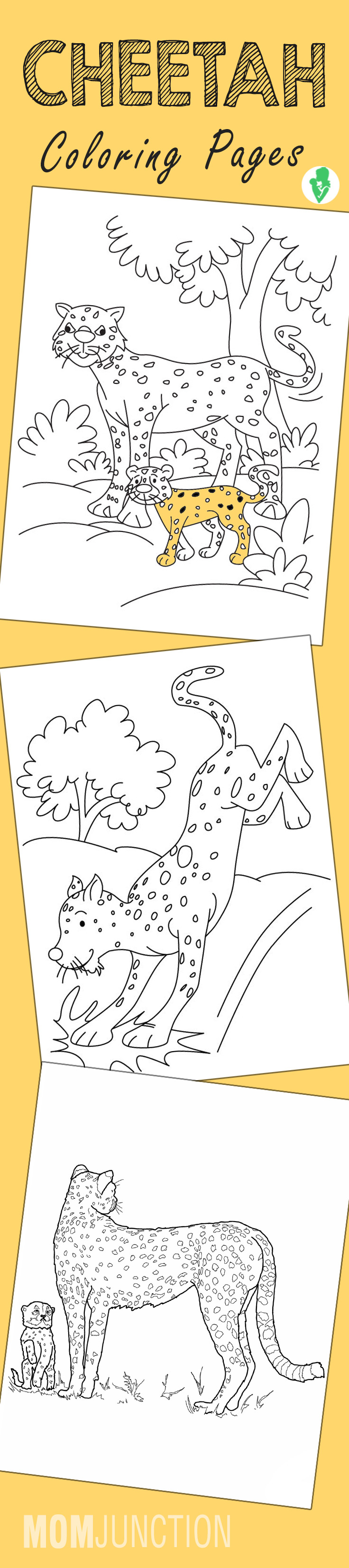 Free printable coloring pages cheetah - Free Printable Coloring Pages Cheetah 49