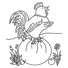christian rooster - Rooster Coloring Page