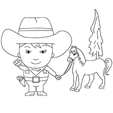 Cowboy-6-16 coloring pages