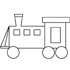 cute looking train coloring pages