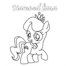 Diamond Tiara Coloring images