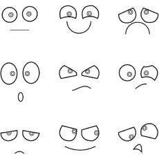 Eyes Emotions coloring pages