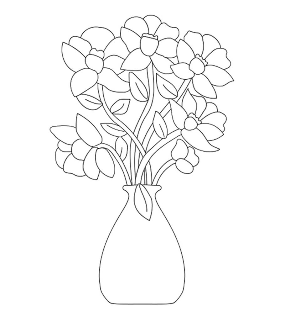 Cflower coloring pages ~ Top 47 Free Printable Flowers Coloring Pages Online