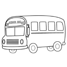 Front-view-Of-A-School-Bus