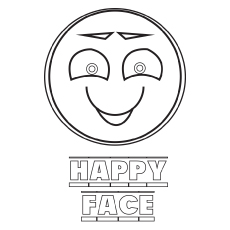 Happy-Face coloring pages