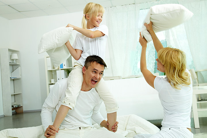 Fun Activities For Kids - Have A Family Pillow Fight