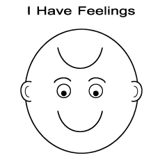Printable I Have different Feelings of Emotions Coloring Pages