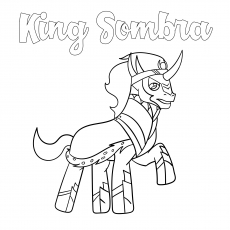 King Sombra Coloring pics