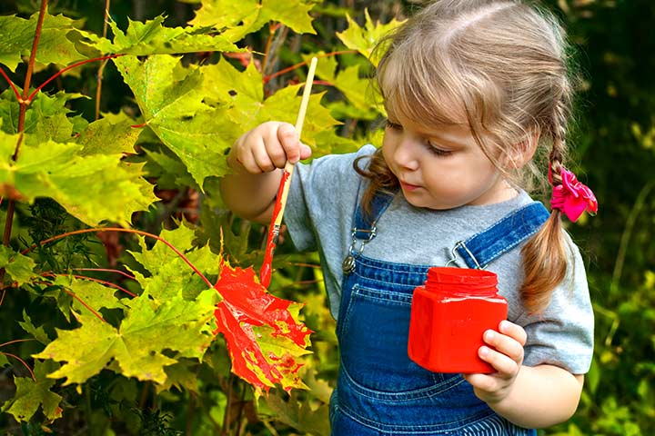 Fun Activities For Kids - Leafy Art