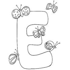letter e - Letter E Coloring Pages
