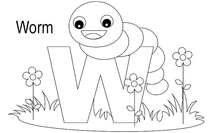 w coloring page Coloring Pages Ideas