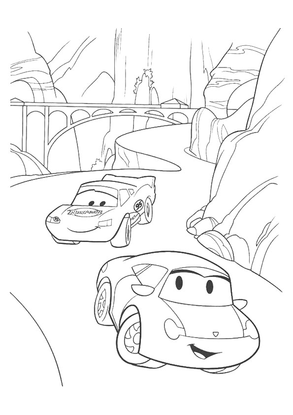 Lightning-McQueen-going-through-rocks