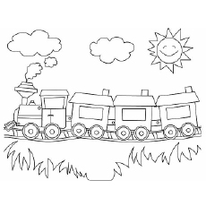 Train Coloring Pages 00103019 on batman car coloring pages printable