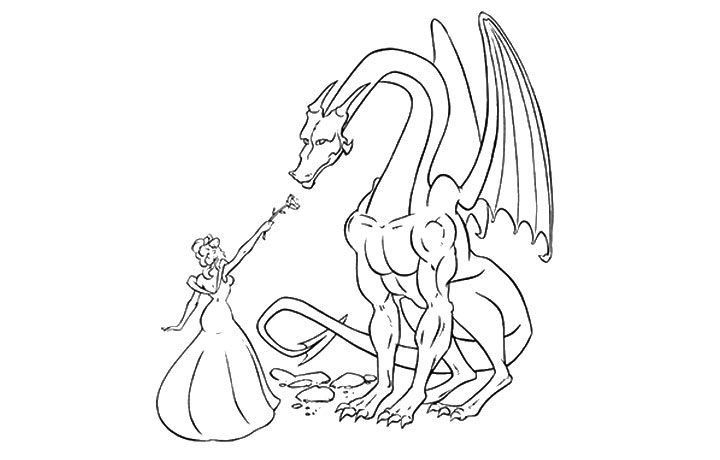 fairy and dragon coloring pages - photo#14