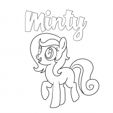 Minty coloring pages