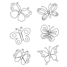 Free Printable Beautiful Nature Butterflies Coloring Pictures