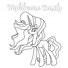 Nightmare Rarity Coloring
