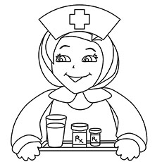 Free Nurse Coloring Printable for kids