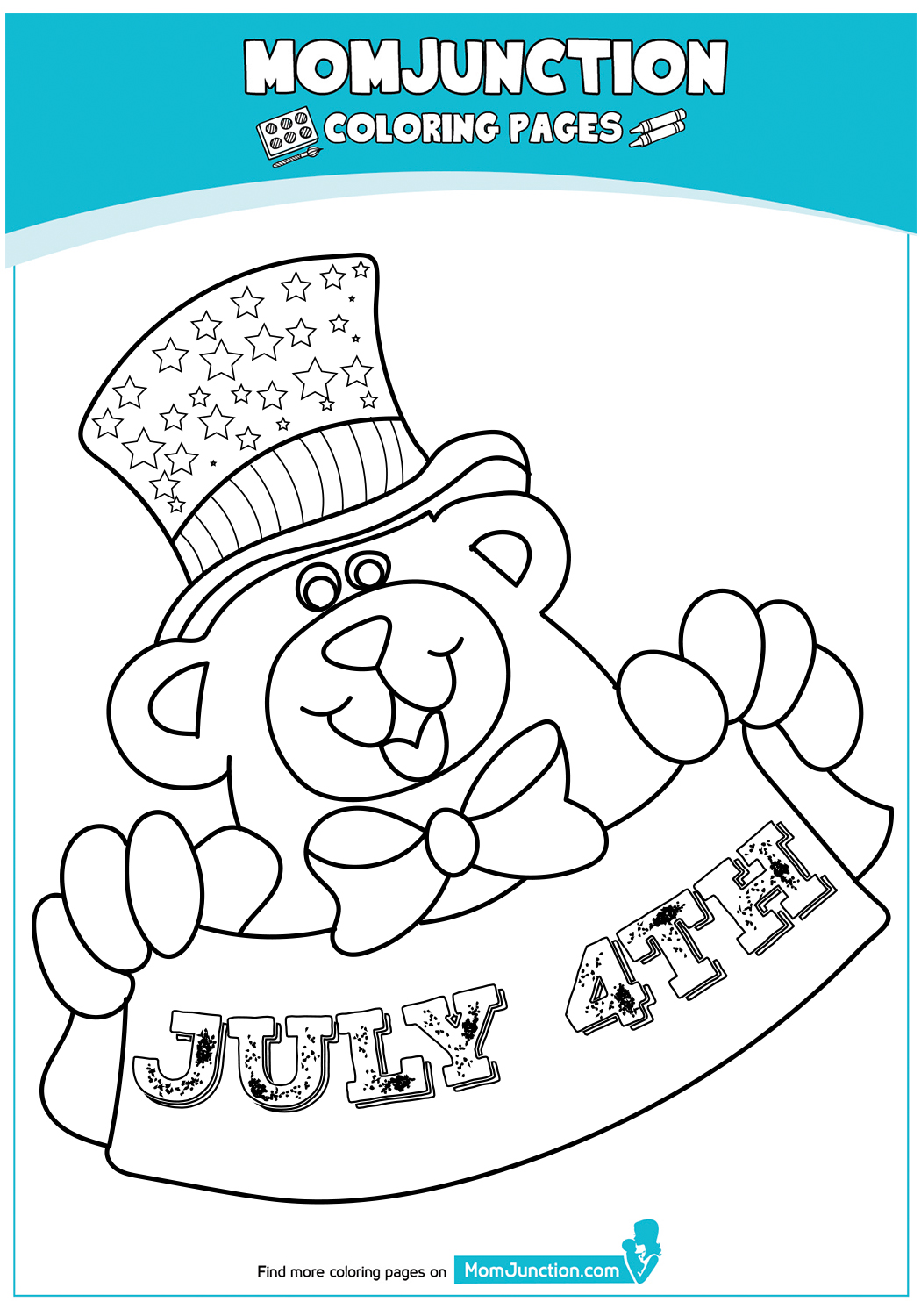 Patriotic-Teddy-Holding-Banner-317