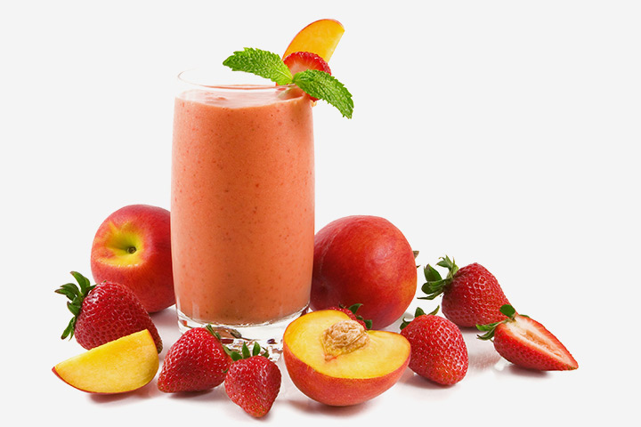 Peach Strawberry Smoothies For Kids With Pictures