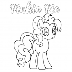 Pinkie Pie coloring images