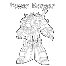 Power Ranger Vehicle Coloring Pages