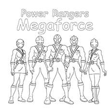Power Rangers Megaforce Gang