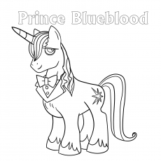 Coloring images Prince Blueblood