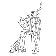 Queen Chrysalis Coloring Pages