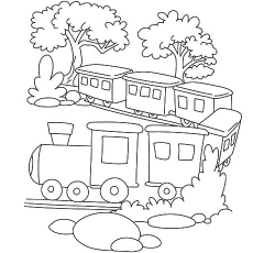 quiet long train journey coloring pages - Train Coloring Pages