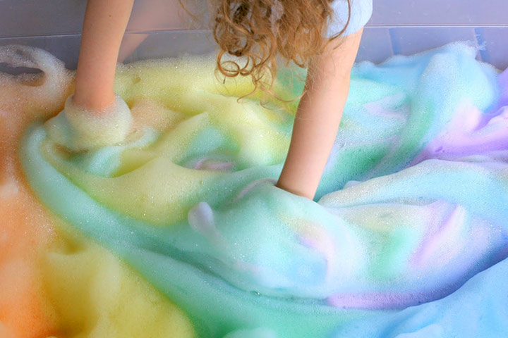 Fun Activities For Kids - Rainbow Soapy Foams