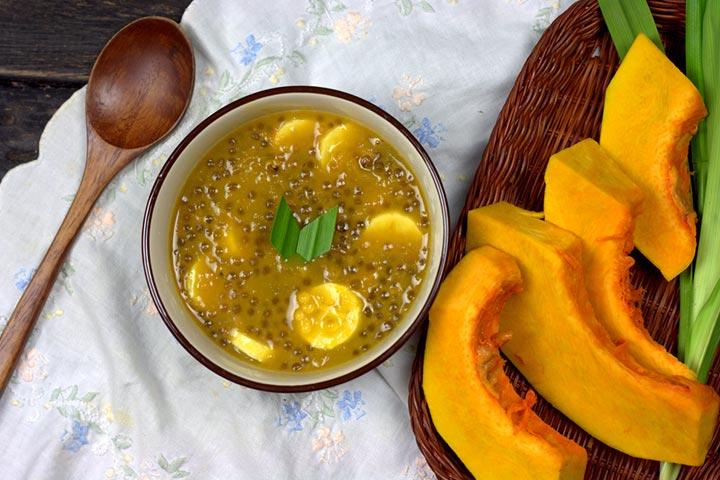 Sago pearls (Sabudana) and squash porridge