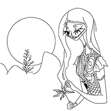 Sally Nightmare Before Christmas Coloring Page 16