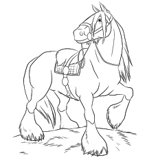 shire horse coloring pages - Horses Printable Coloring Pages