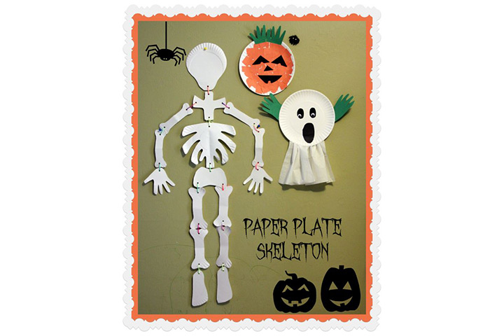 Skeleton From Paper Plates