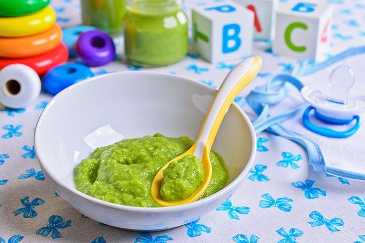 Spinach and potato puree