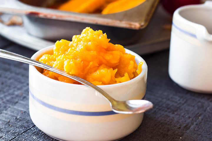 Squash and carrot puree