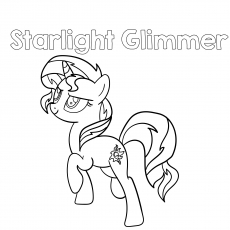 top 55 my little pony coloring pages your toddler will love to color MLP Walking Base coloring pages of starlight glimmer