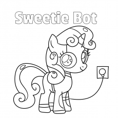 Sweetie Bot coloring pages