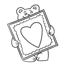 Teddy Bear With Valentine Card