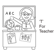 the t for teacher - Letter T Coloring Sheets