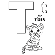 the t for tiger - Letter T Coloring Sheets