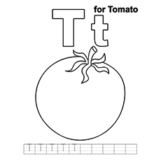 the t for tomato - Letter T Coloring Sheets