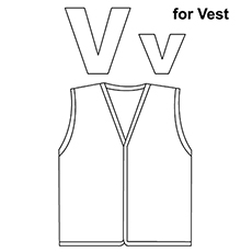 the v for vest - Letter A Coloring Pages For Toddler