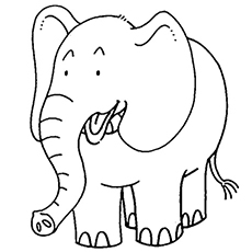 African Elephant Coloring Pages Free