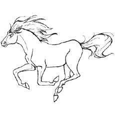 horse andalusian pic to color - Coloring Pages Horse