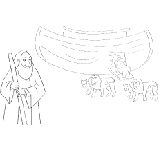 The Toy Ark Coloring Pages Animals Entering