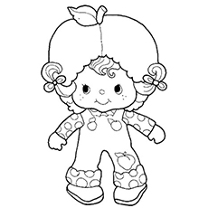 Apricot of Strawberry Shortcake Coloring Sheet Free Printable