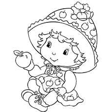 Baby Apple Dumplin from Strawberry Shortcake Coloring pages