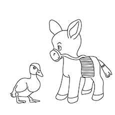The Baby Mule Coloring pages